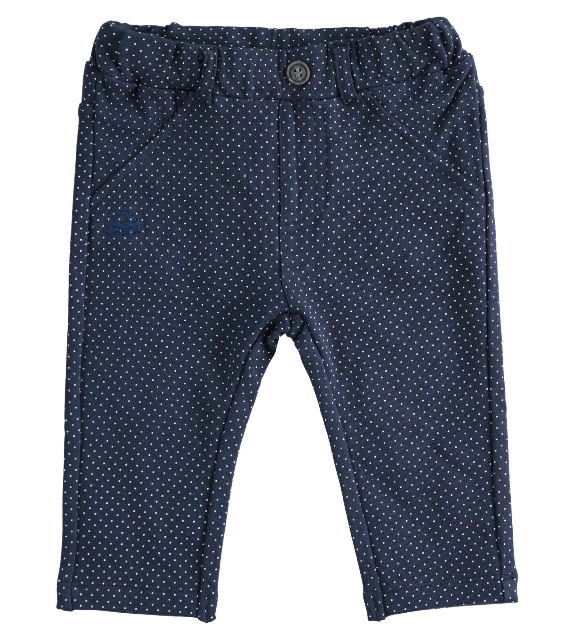 kisfiú újszülött kék pamut nadrág