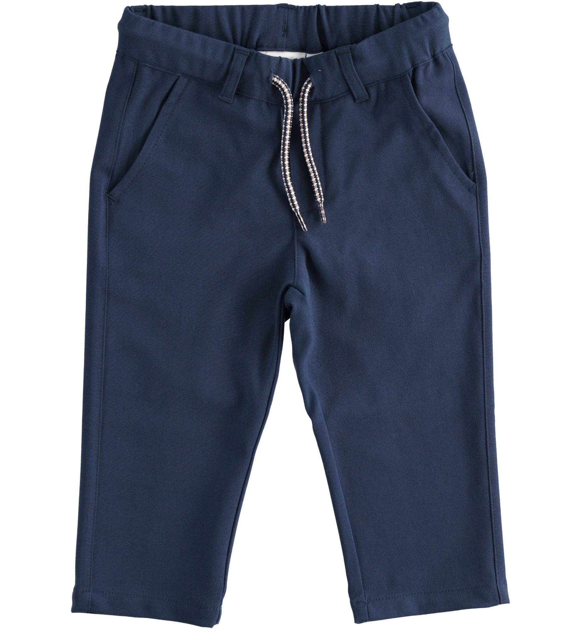 Kék megköthető pamut nadrág