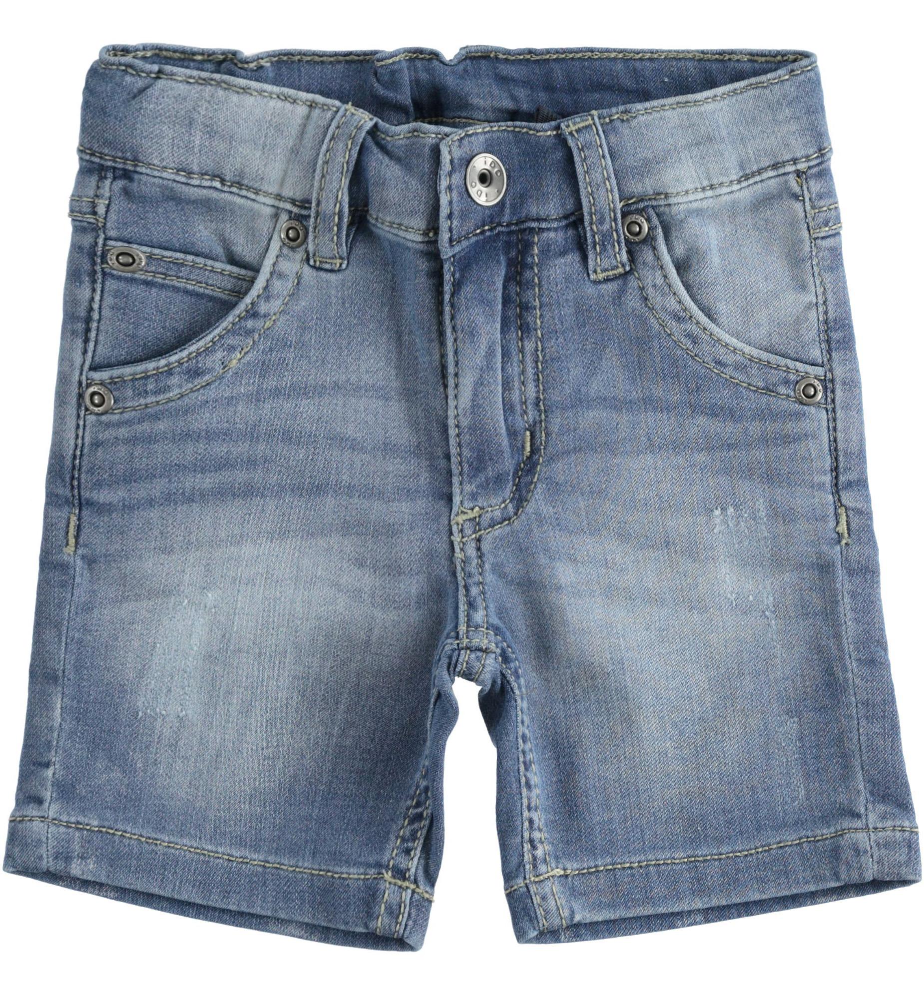 Kisfiú bermuda farmer hatású puha nadrág