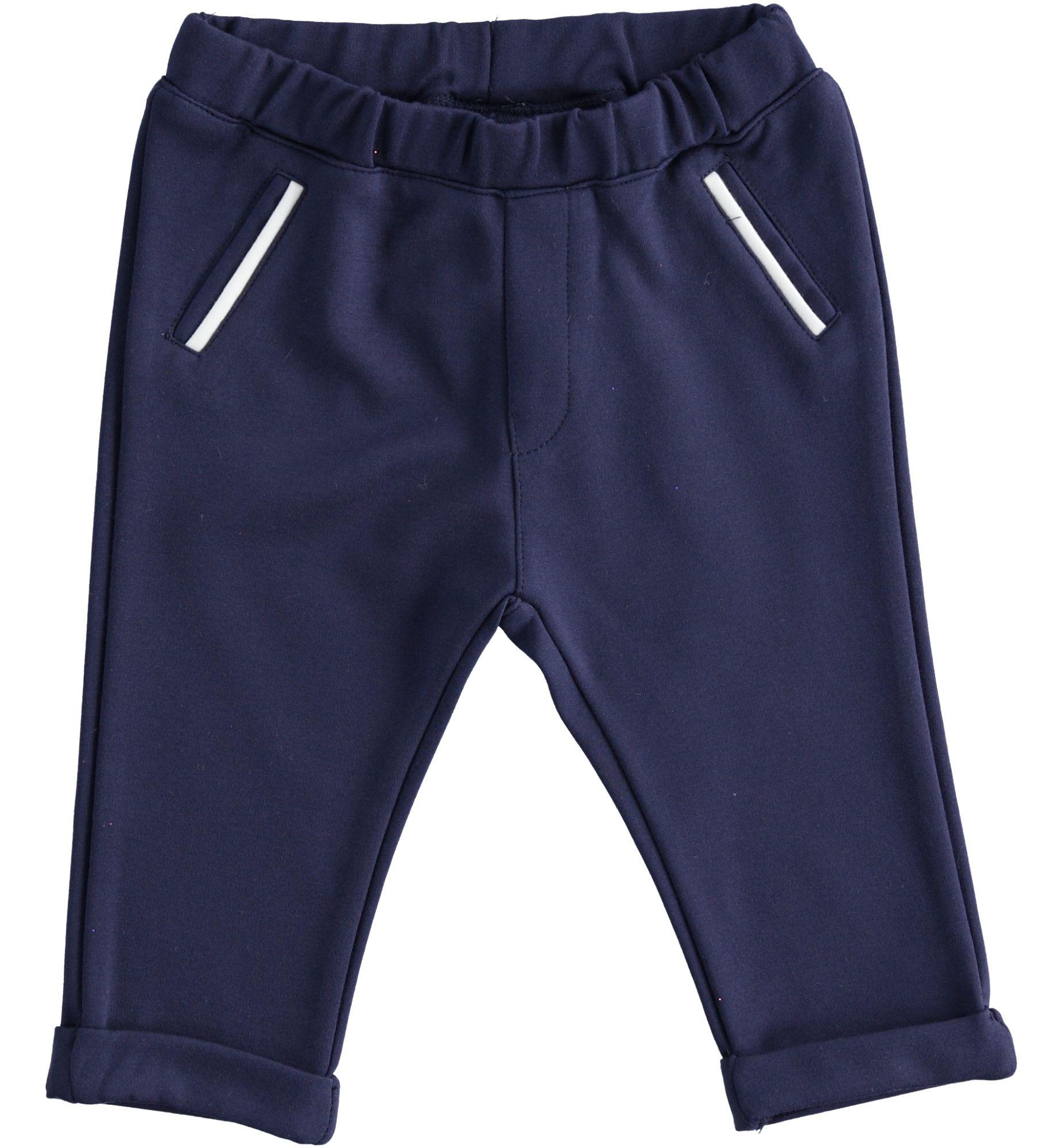 Alkalmi kisfiú puha pamut kék nadrág