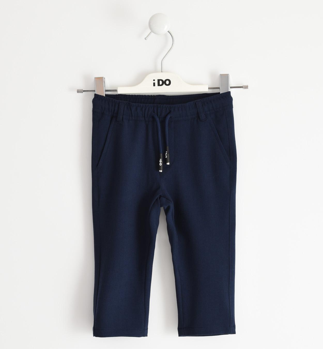 megkötős puha pamut kék nadrág