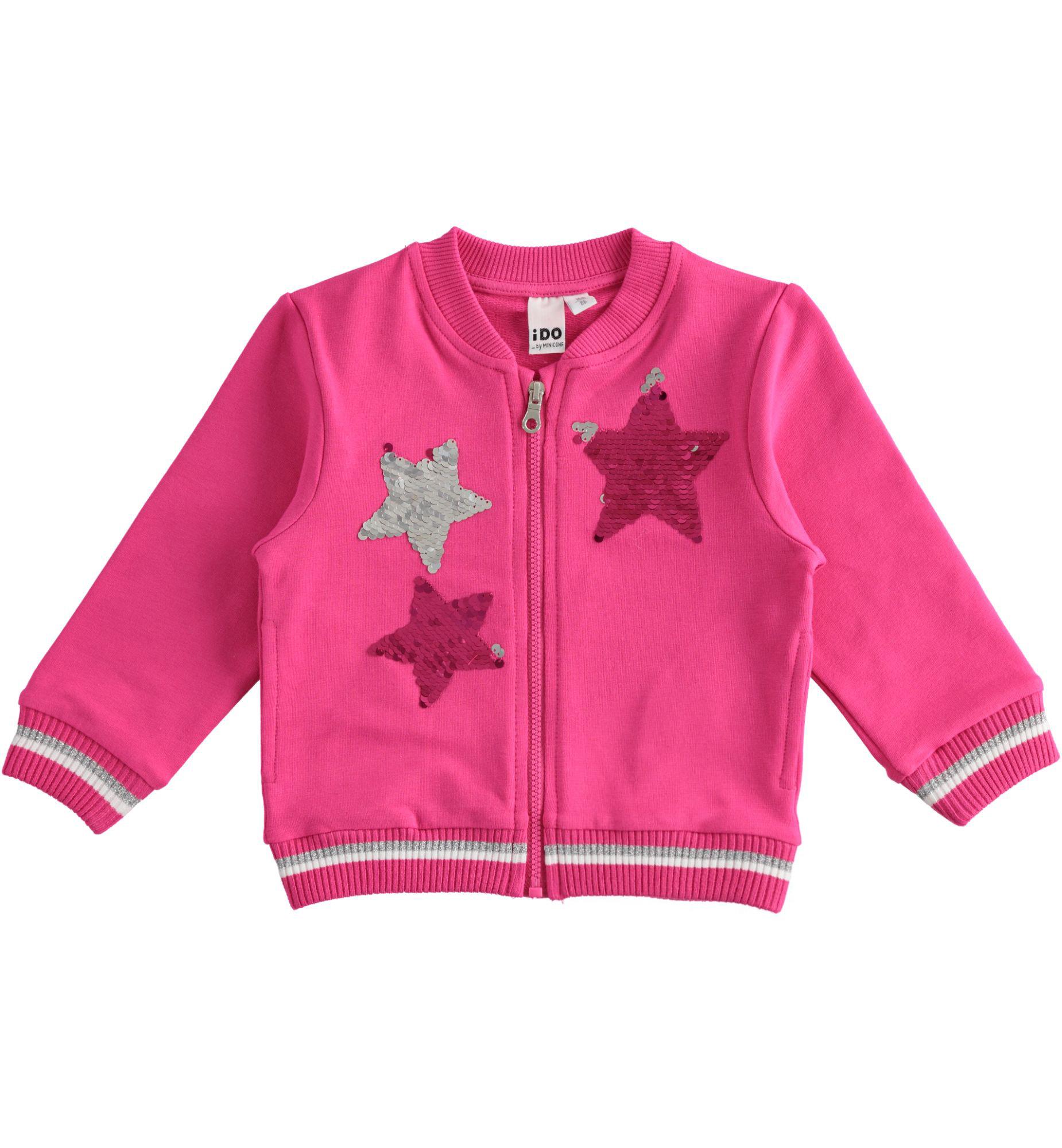 Kislány rózsaszín cipzáros pulóver