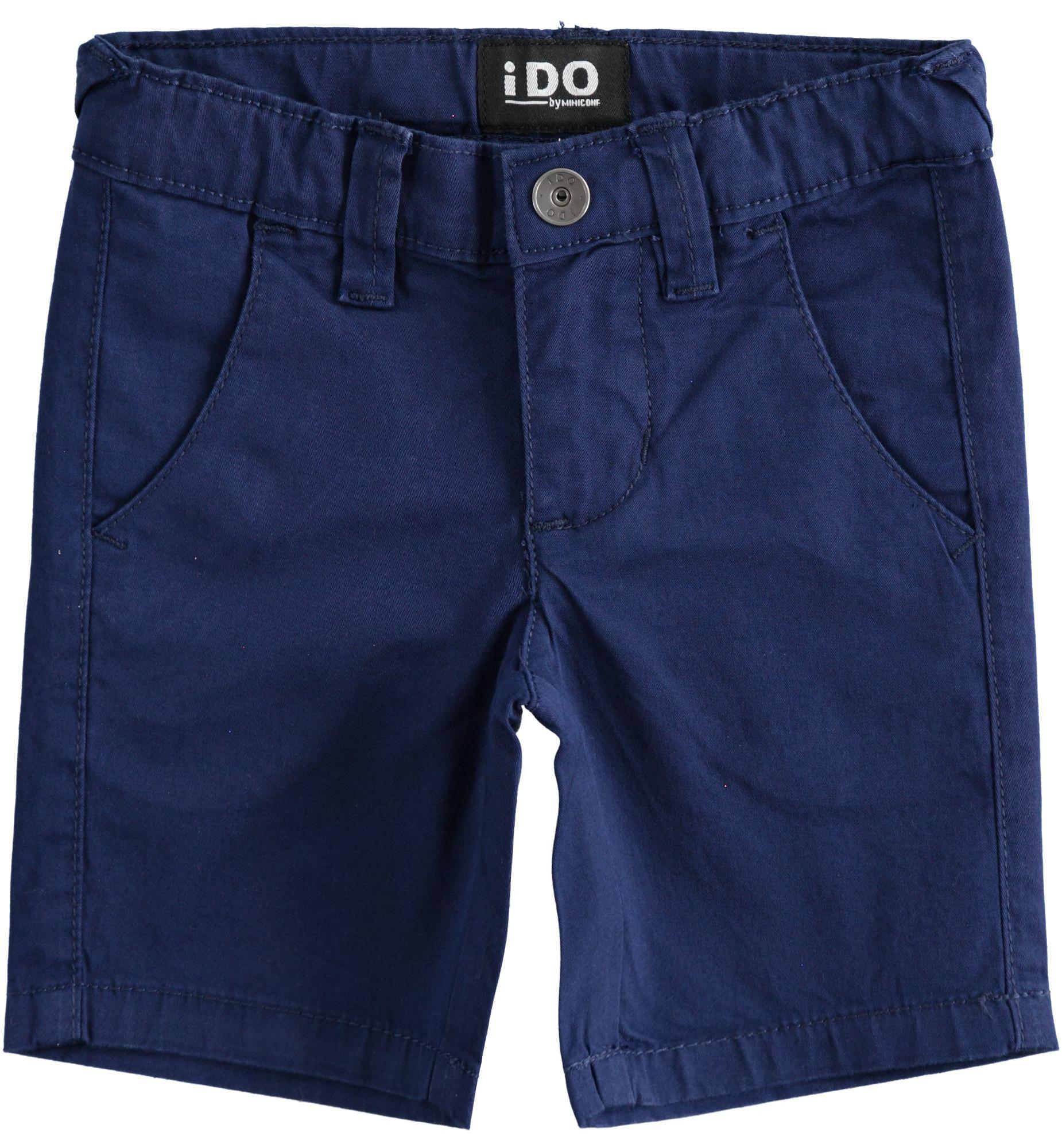 Bermuda bézs kék rövid nadrág fiúknak