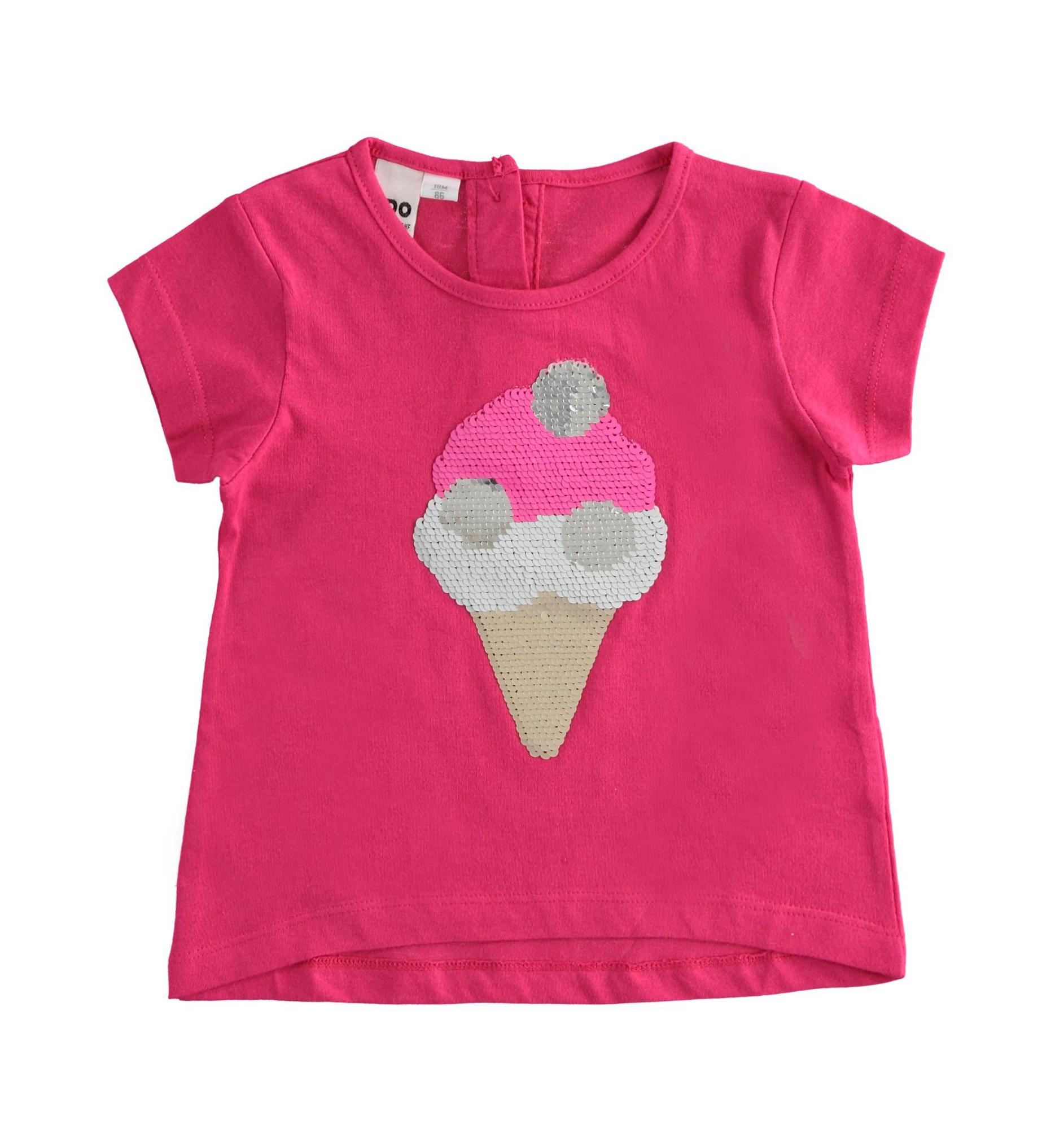 Fagyis pink kislány pamut póló