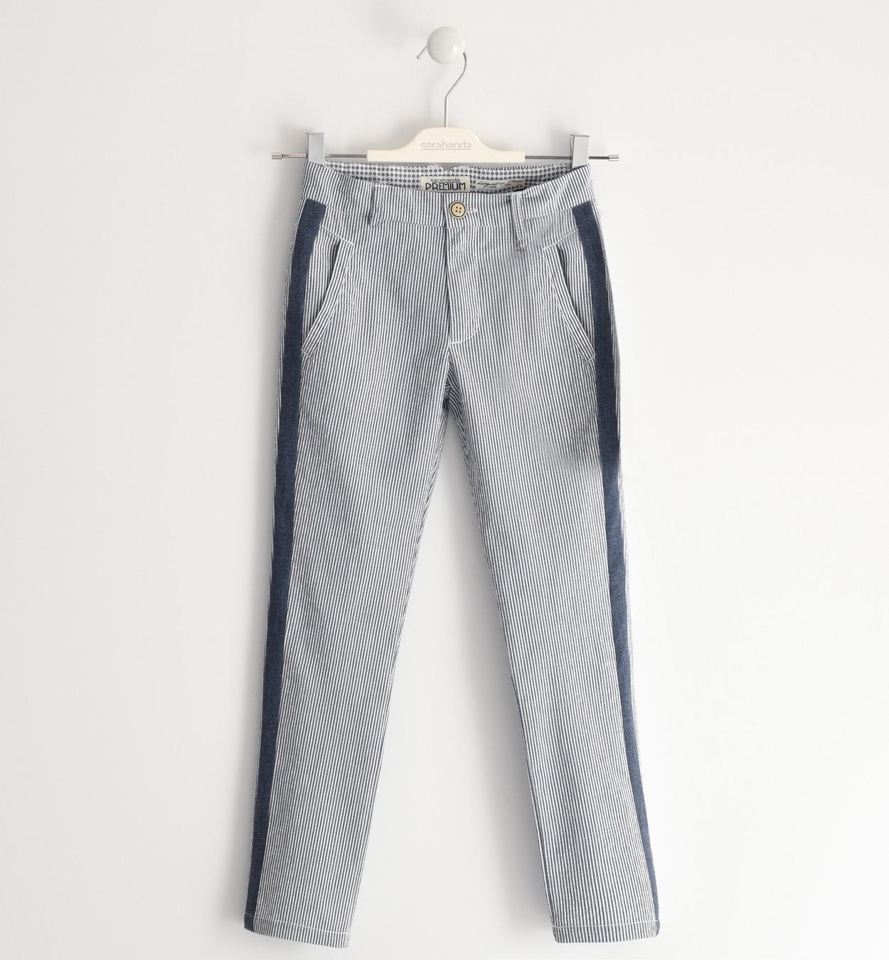 Sarabanda fiú csíkos kék öltöny nadrág