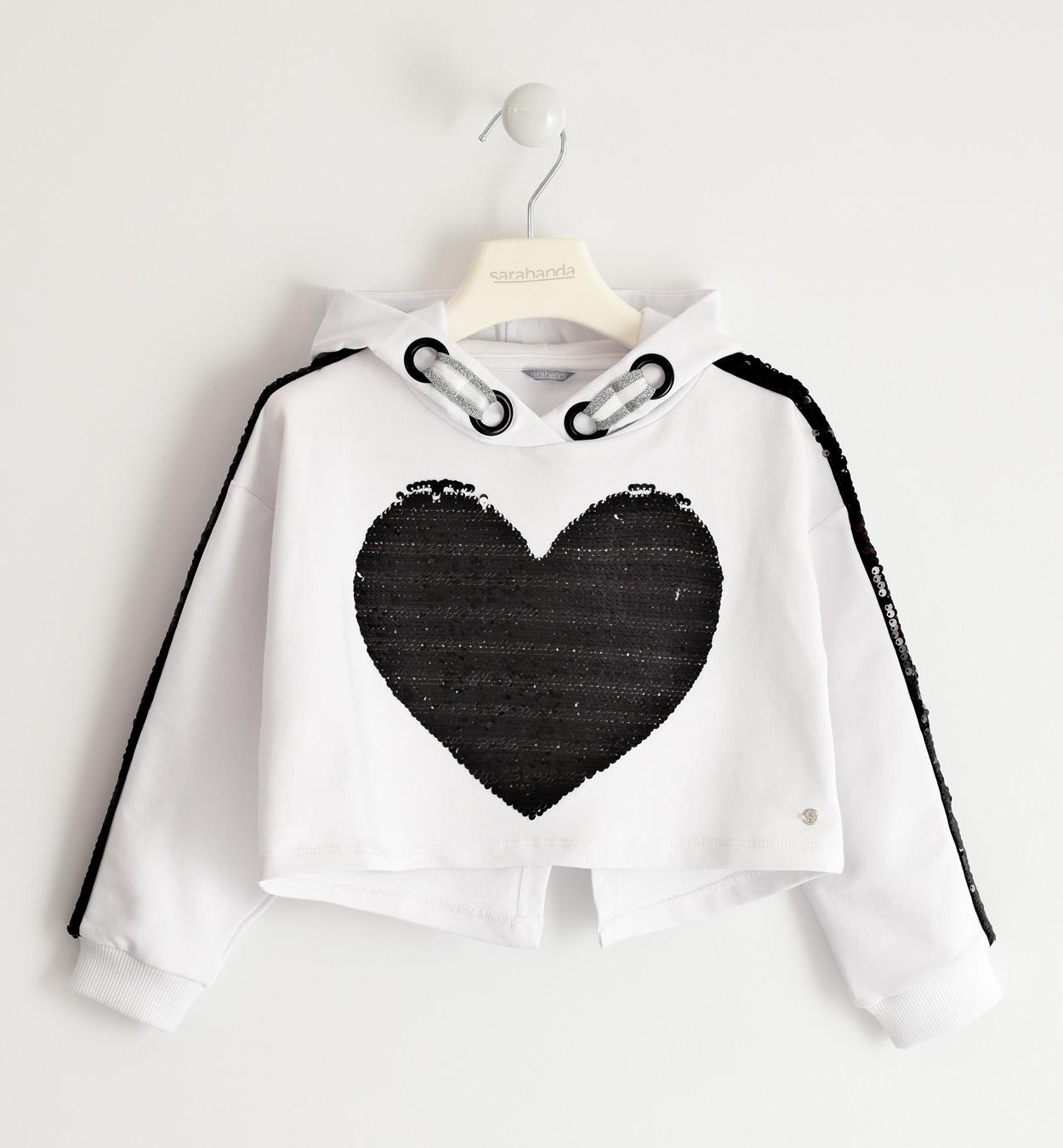 Sarabanda fehér szíves pulcsi