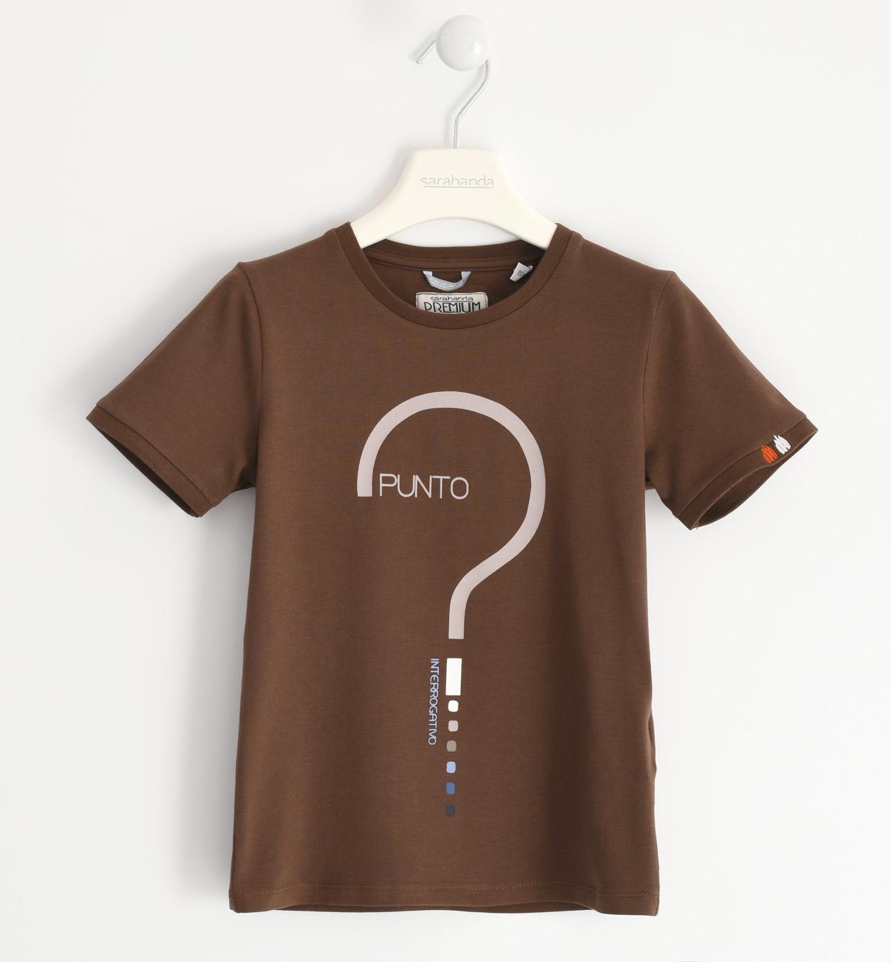 Sarabanda barna mintás pamut póló