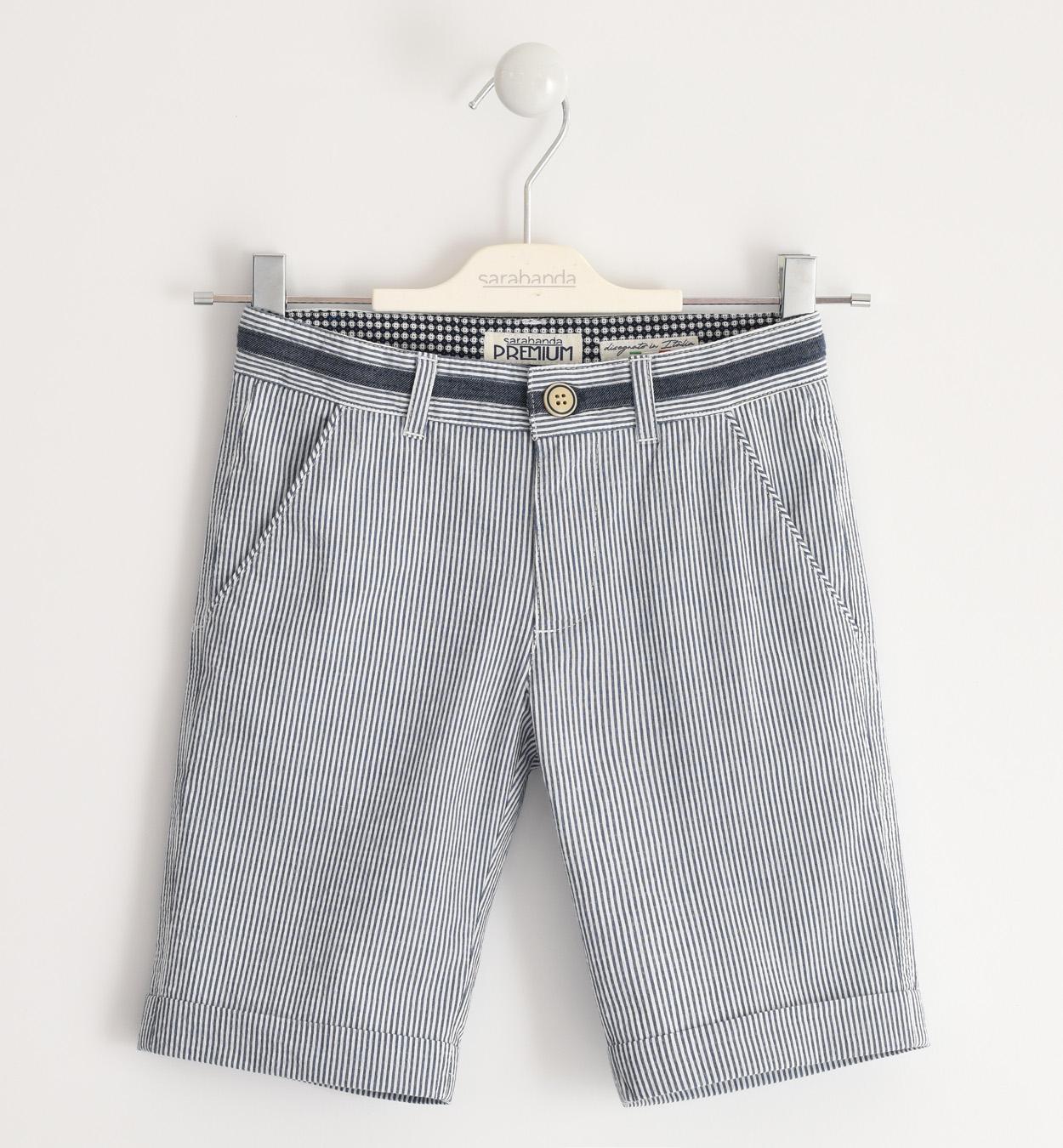 Sarabanda kék csíkos fiú bermuda nadrág
