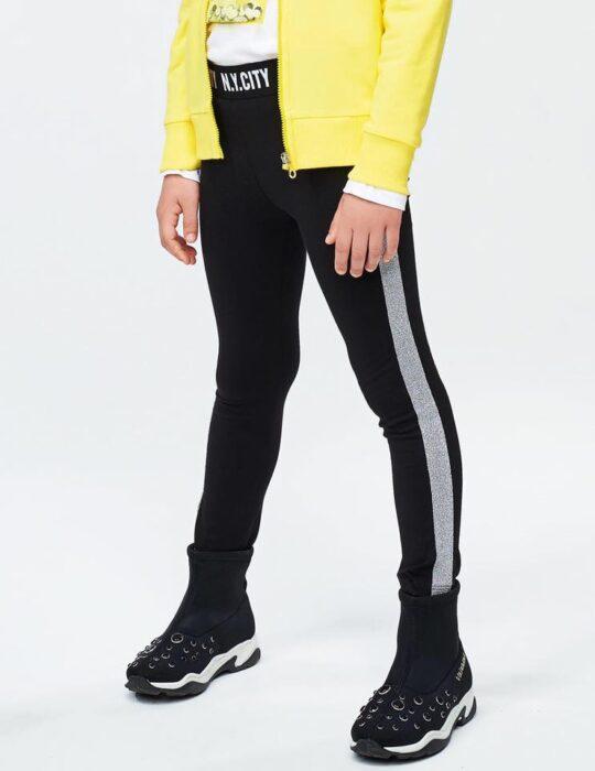 fekete leggings ezüst csíkkal