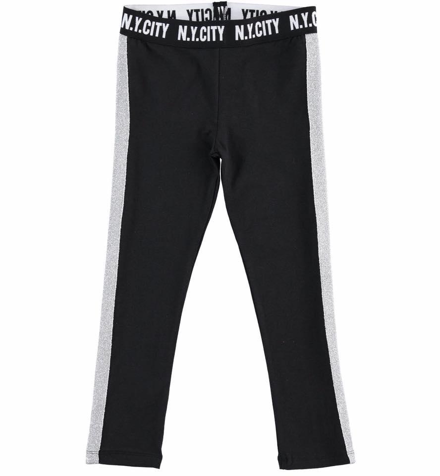 fekete leggings ezüsz csíkkal