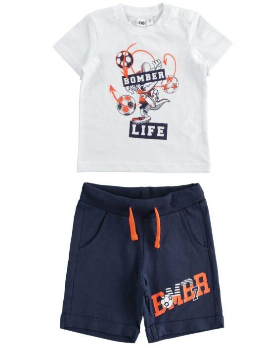 iDO pamut kisfiú szett pólóval és rövidnadrággal