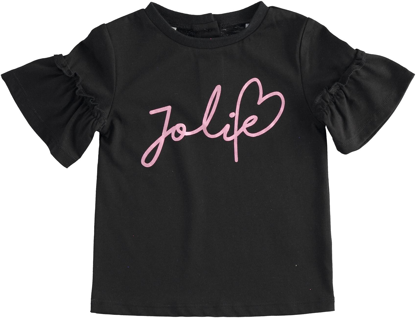 Fekete póló rózsaszín felirattal kislányoknak