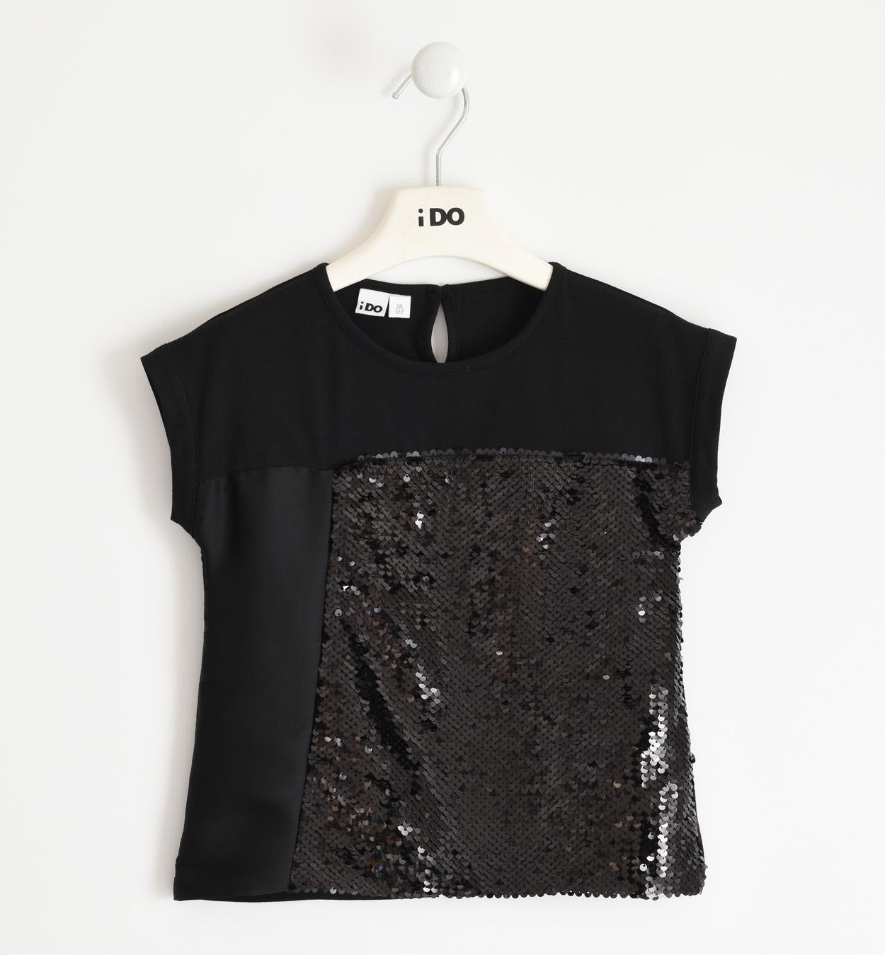 Fekete flitteres póló