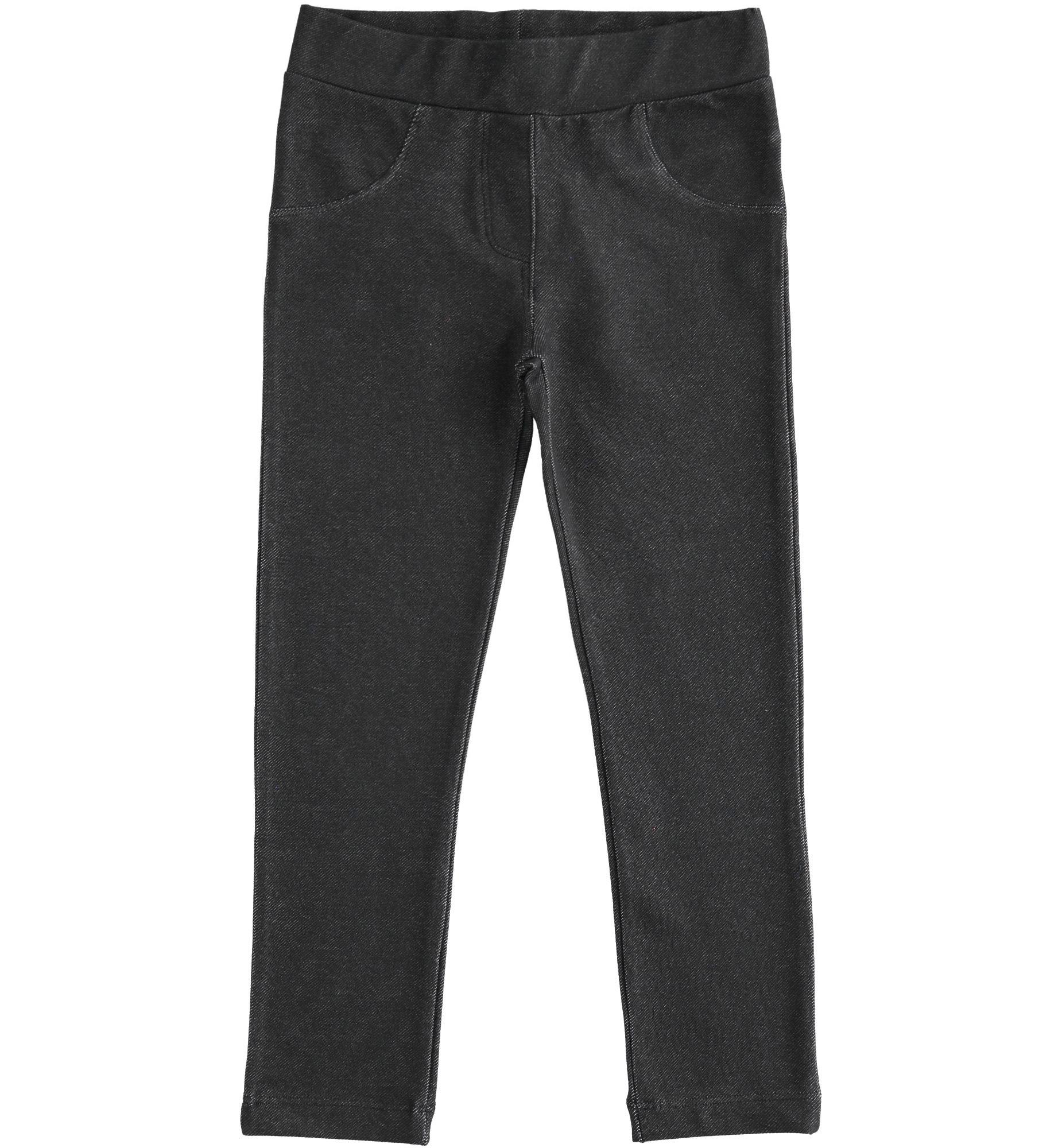 Fekete farmer hatású leggings