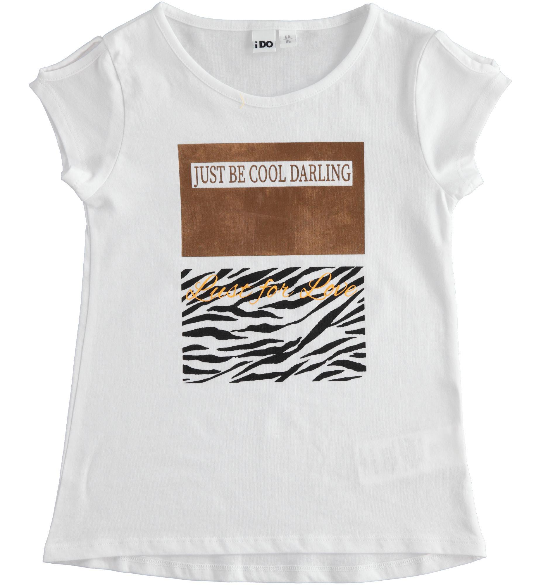 Kislány fehér tigris mintás póló