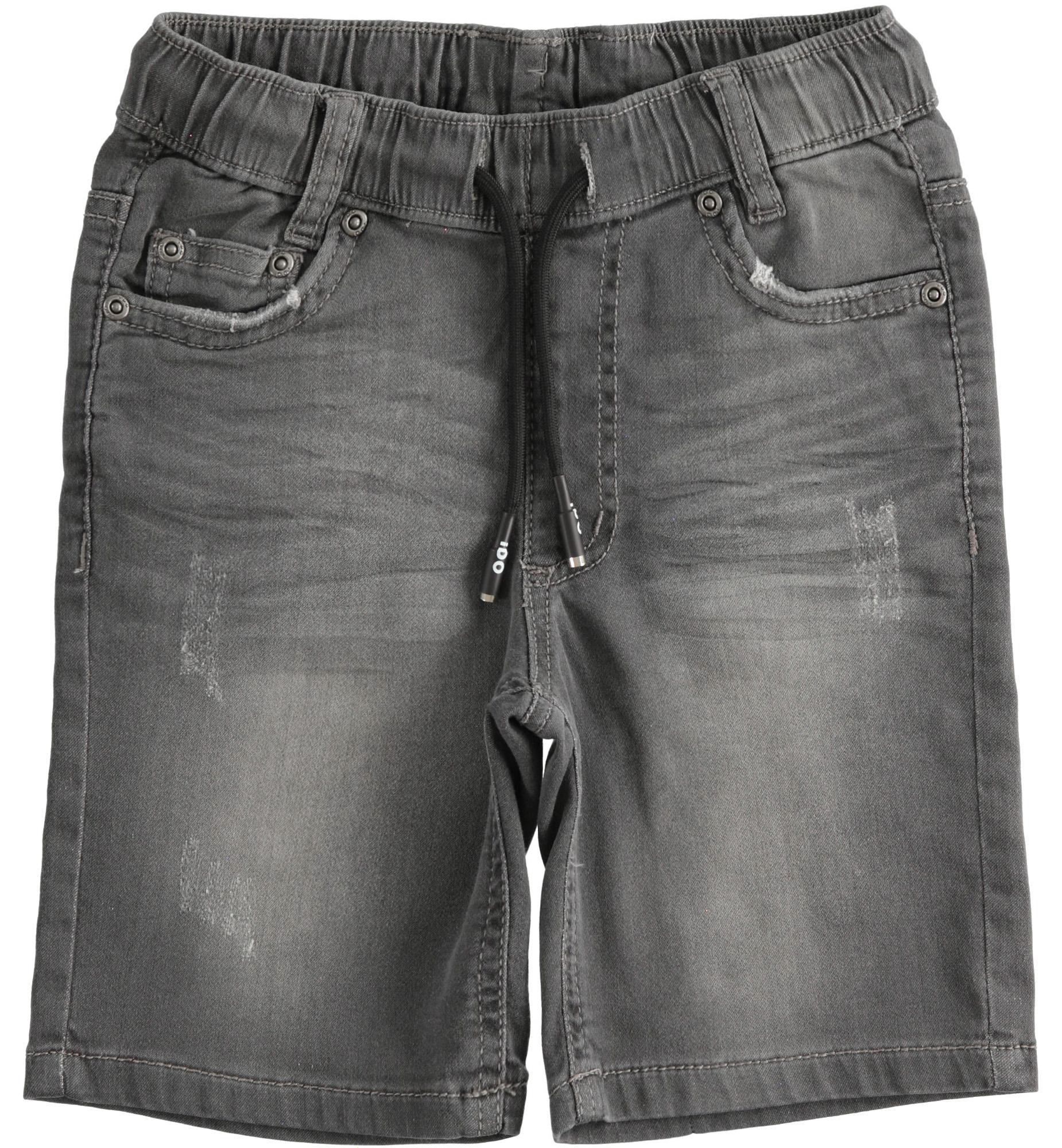 Szürke gumis derekú farmer hatású pamut nadrág fiúknak