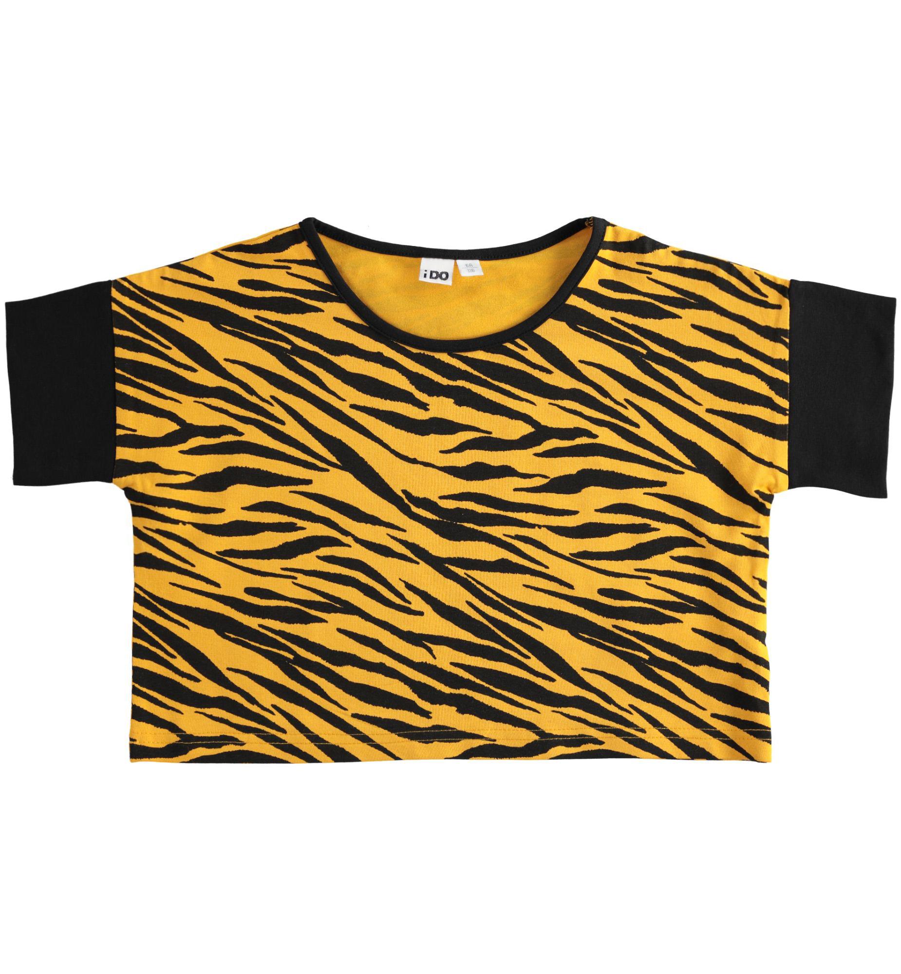 Tigrises crop póló lányoknak haspóló