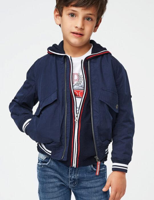 Fiú bomber átmeneti kék dzseki