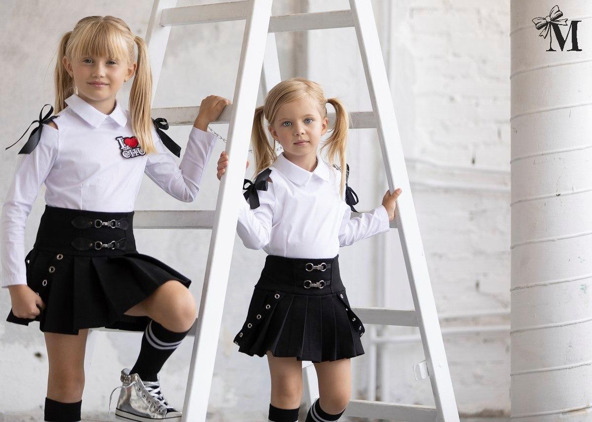 Malami fekete csatos szoknya kislányoknak