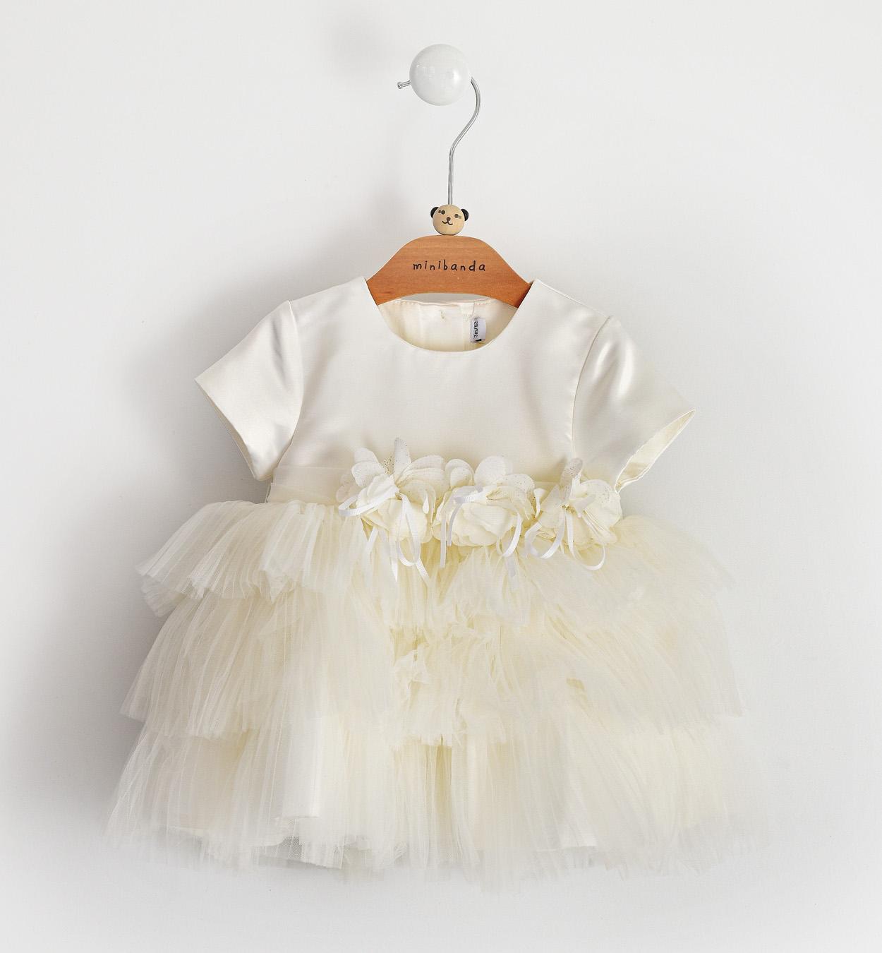 Sarabanda fehér tüllös keresztelő ruha