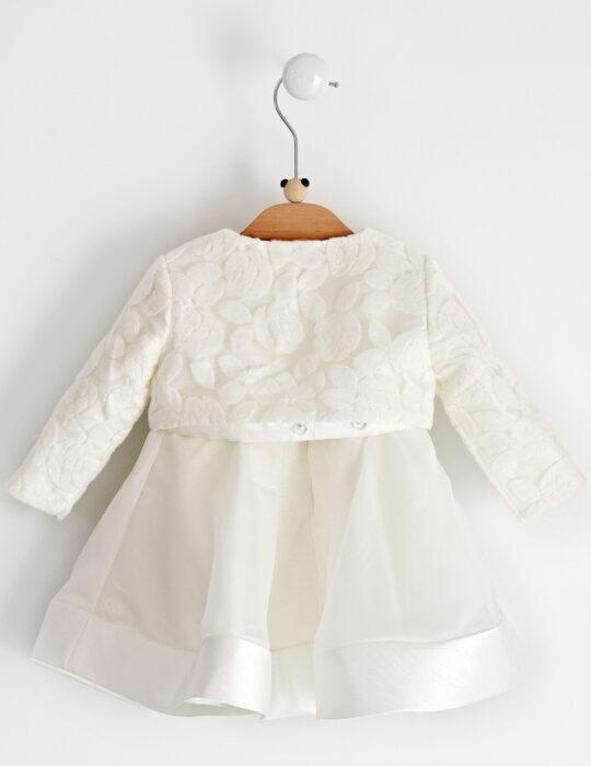 Sarabanda fehér keresztelő ruha boleróval