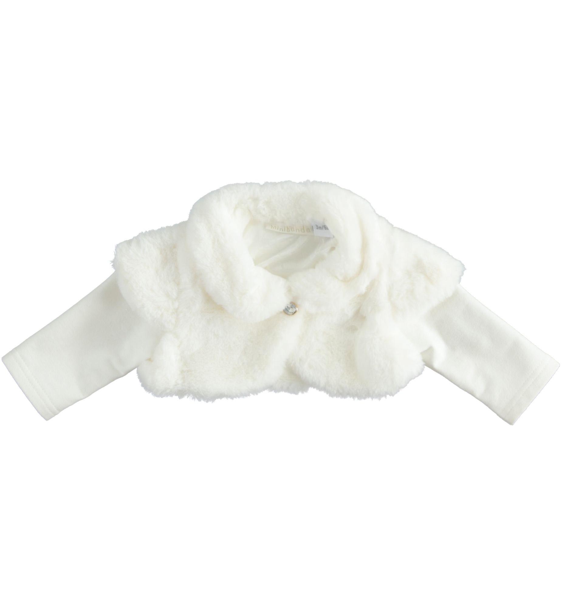 Sarabanda szőrmés fehér boleró