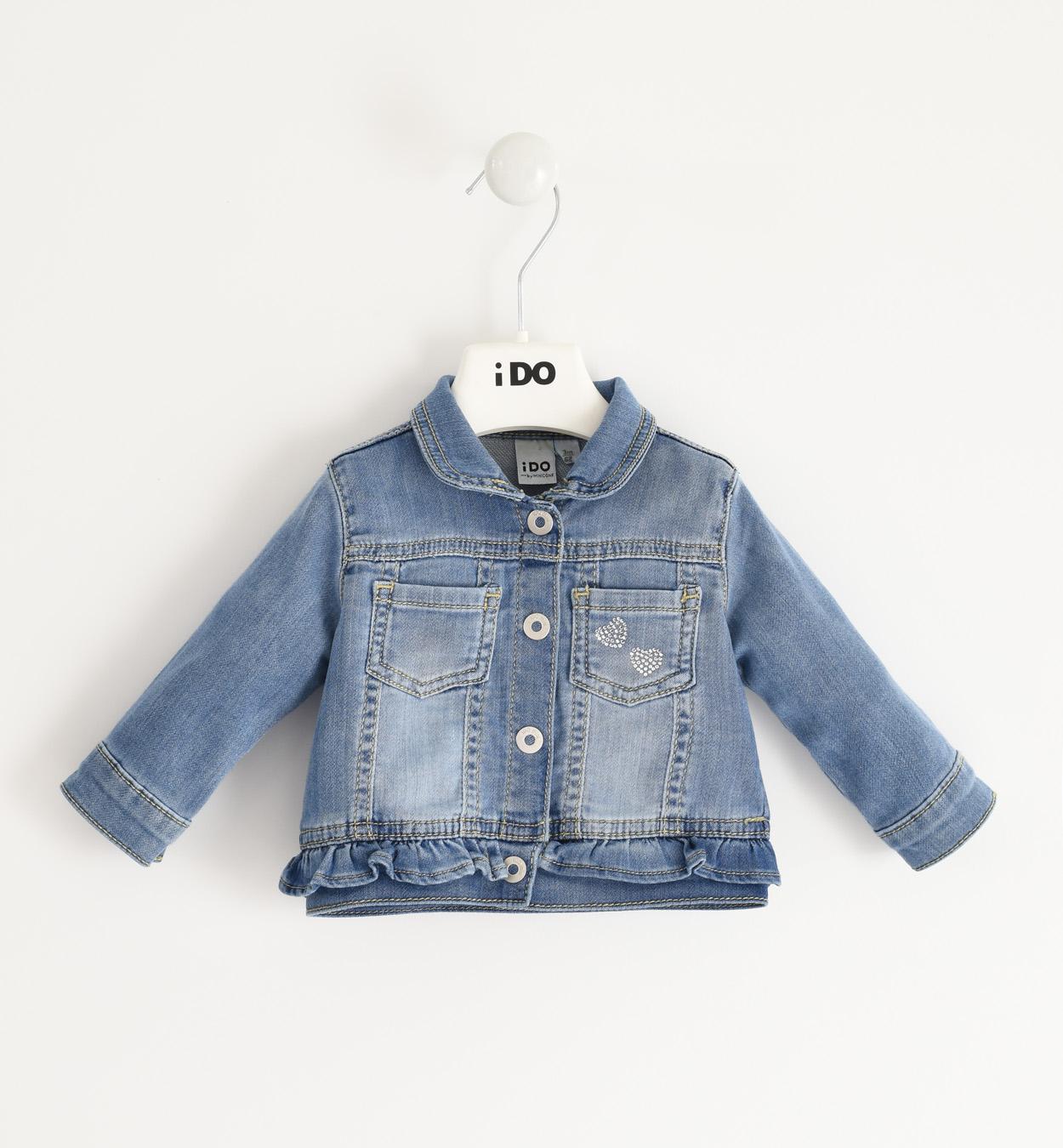 Farmer hatású kislány újszülött pamut kabát, dzseki