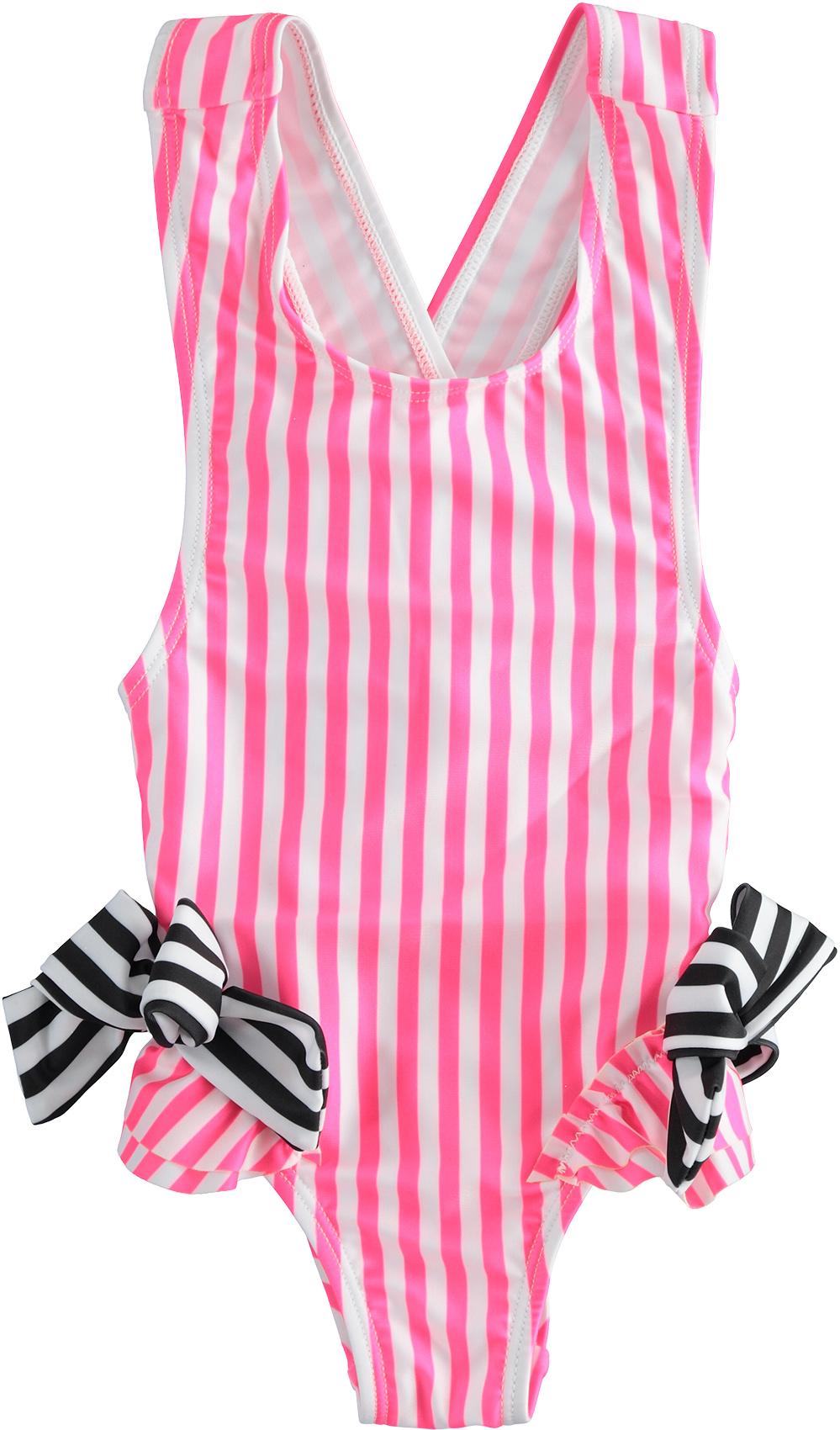 kislány egyrészes rózsaszín fürdőruha, bikini