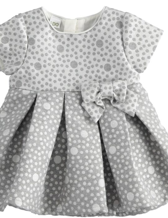 Szürke-fehér kislány hosszú ujjú ruha