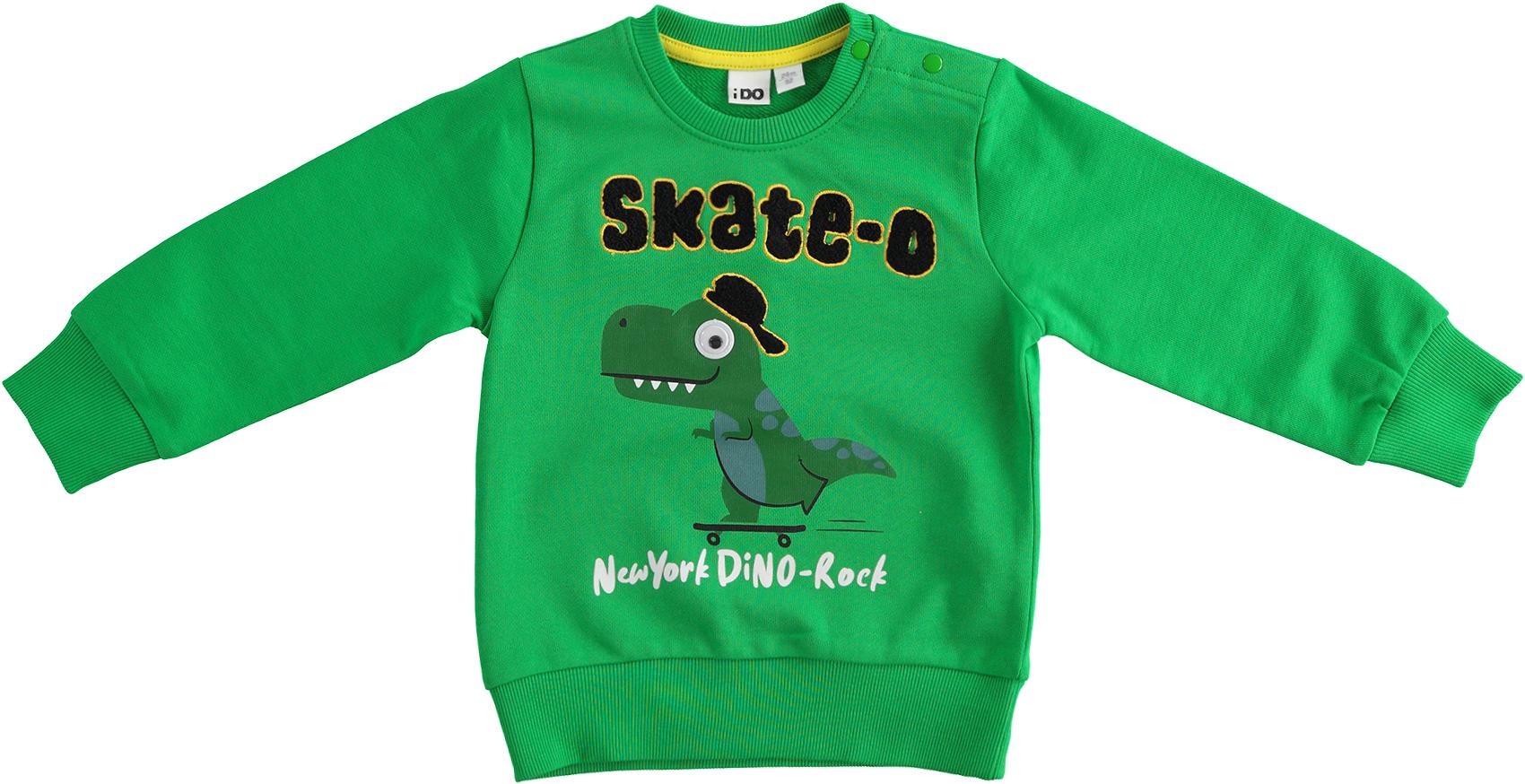 Kisfiú dinós zöld belebújós pulóver