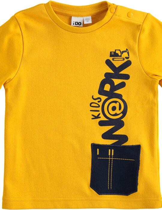 Mustár sárga kisfiú pamut felső