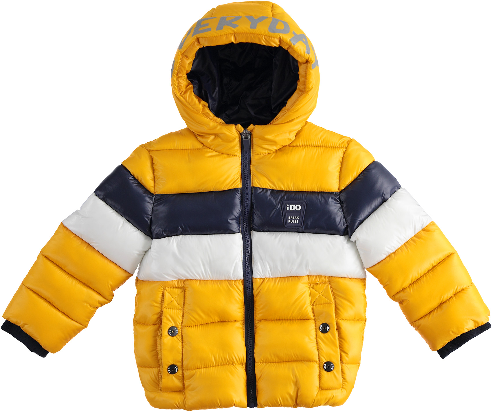 Sárga kisfiú téli kabát