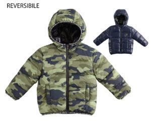 Terepmintás kifordítható kisfiú téli kabát